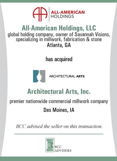 All-American Holdings, LLC / Architectural Arts, Inc.