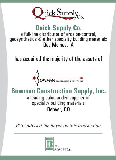Quick Supply Co. / Bowman Construction Supply, Inc.