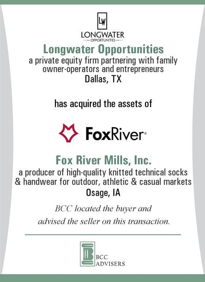 Longwater Opportunities / Fox River Mills, Inc.
