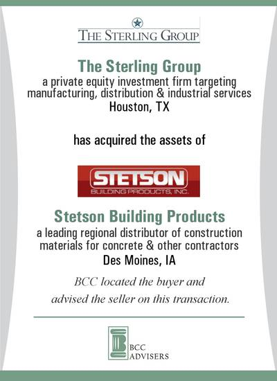 The Sterling Group / Stetson Building Products