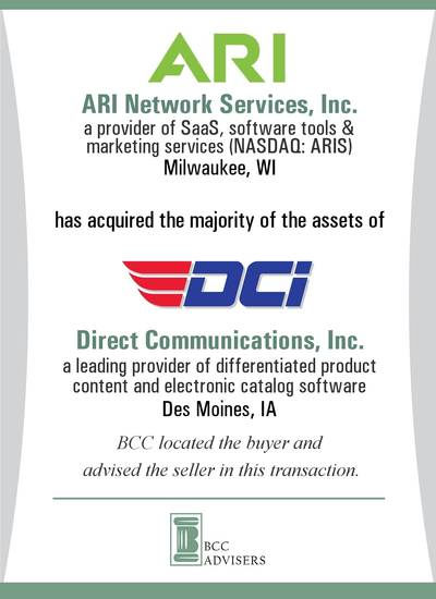 ARI Network Services, Inc. / Direct Communications, Inc.
