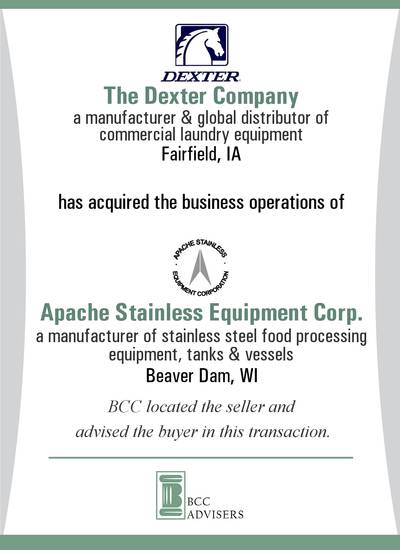The Dexter Company / Apache Stainless Equipment Corp.