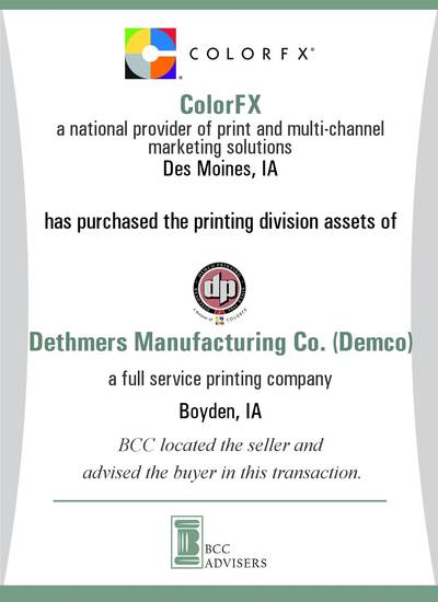 ColorFX / Dethmers Manufacturing Co. (Demco)