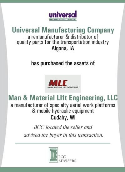 Universal Manufacturing Company / Man & Material LIft Engineering, LLC