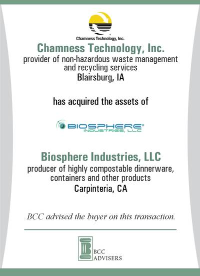 Chamness Technology, Inc. / Biosphere Industries, LLC