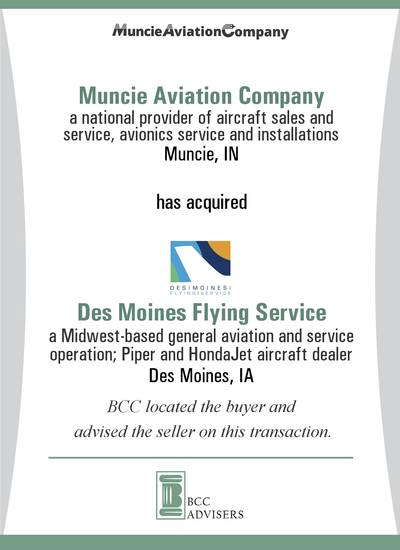 Muncie Aviation Company / Des Moines Flying Service