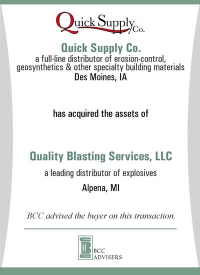 Quick Supply Co. / Quality Blasting Services, LLC